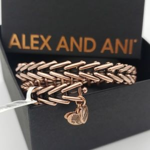 NWT Alex and Ani Gypsy 66 Wrap Rose Gold